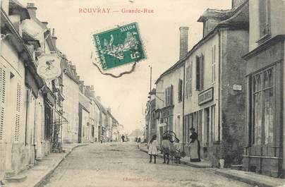 """CPA FRANCE 21 """"Rouvray, grande rue"""""""