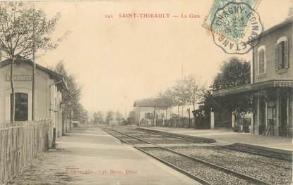 "CPA FRANCE 21 ""Saint Thibault, la gare"""