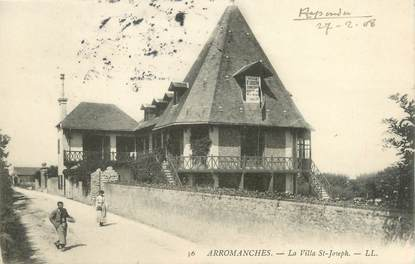 """CPA FRANCE 14 """"Arromanches, la villa Saint Joseph"""""""