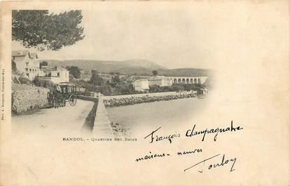 "CPA FRANCE 83 ""Bandol, Quartier des Bains"""