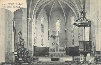 """CPA FRANCE 44 """"Vue, intérieur de l'église"""""""
