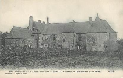 "CPA FRANCE 44 ""Rougé, château de Chamballan"""