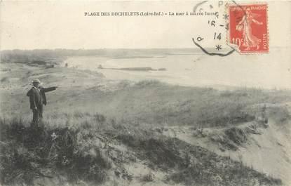 """CPA FRANCE 44 """"Plage des Rochelets, la mer à marée basse"""""""