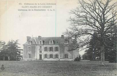 """CPA FRANCE 44 """"Saint Mars Du Désert, château de la Rimbertière"""""""