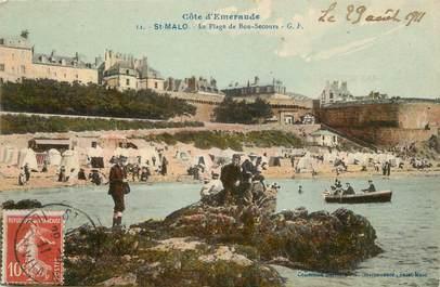 """/ CPA FRANCE 35 """"Saint Malo, la plage de bon secours"""""""