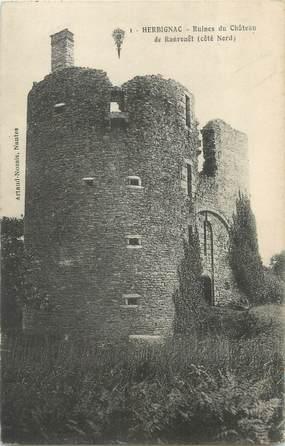 """CPA FRANCE 44 """"Herbignac, ruines du château de Ranrouët"""""""