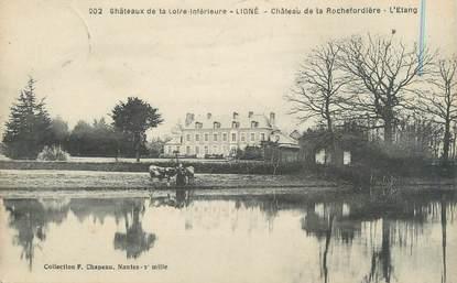 """CPA FRANCE 44 """"Ligné, château de la Rochefordière, l'étang """""""