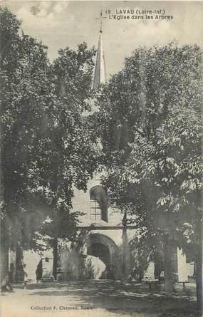 """CPA FRANCE 44 """"Lavau, l'église dans les arbres"""""""