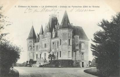 """CPA FRANCE 44 """"La Ganarche, château de Fonteclose"""""""