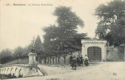 """CPA FRANCE 18 """"Sancerre, la terrasse Porte César"""""""