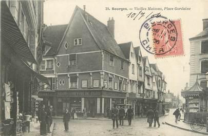 """CPA FRANCE 18 """"Bourges, vieilles maisons, place Gordaine"""""""