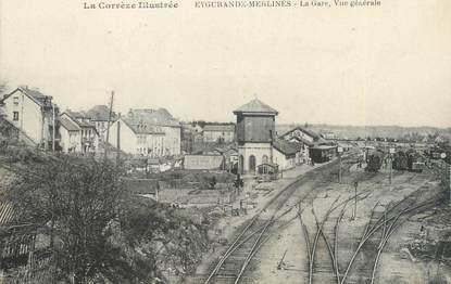"""CPA FRANCE 19 """"Eygurande Merlines, la gare"""""""