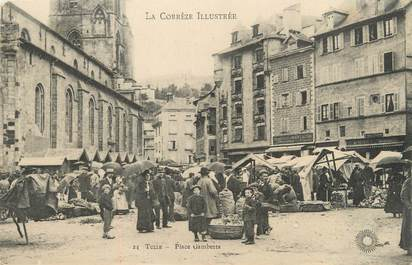 """CPA FRANCE 19 """"Tulle, place Gambetta"""""""