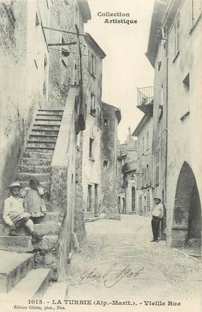 "/ CPA FRANCE 06 "" La Turbie, vieille rue"""