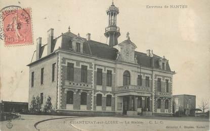 """CPA FRANCE 44 """"Chantenay sur Loire, la mairie"""""""