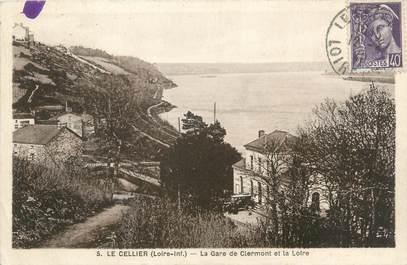 """CPA FRANCE 44 """"Le Cellier, la gare de Clermont et la Loire"""""""