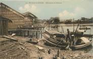 """Asie CPA VIETNAM """"Env. de Saigon, Habitations de Pêcheurs"""""""