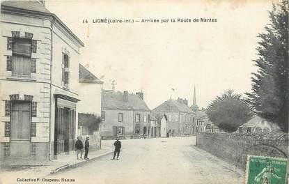 """CPA FRANCE 44 """"Ligné, arrivée par la route de Nantes"""""""
