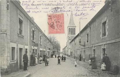 "CPA FRANCE 44 ""Indret, la rue de Lorient"""