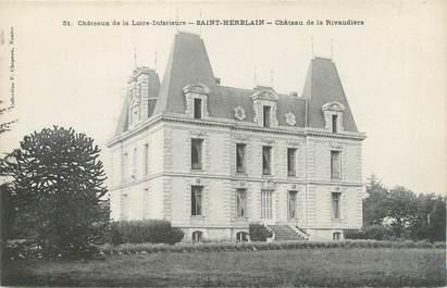 """CPA FRANCE 44 """"Saint Herblain, château de la Rivaudière """""""
