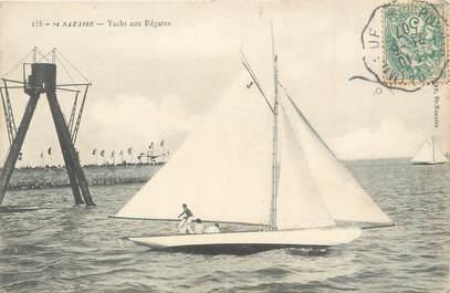 """CPA FRANCE 44 """"Saint Nazaire, Yacht aux régates"""""""