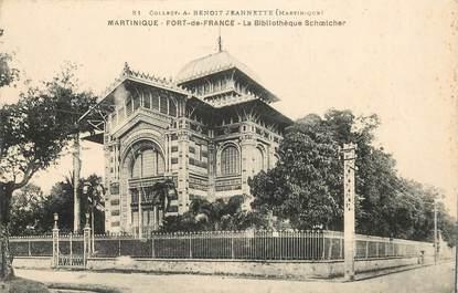 "CPA MARTINIQUE ""Fort de France, la Bibliothèque"""