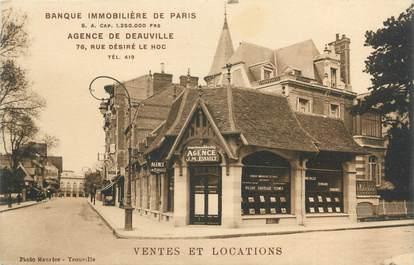 """CPA FRANCE 14 """"Agence de Deauville, banque immobilière de Paris"""""""