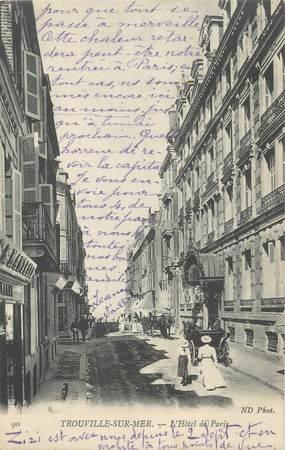 """CPA FRANCE 14 """"Trouville sur Mer, l'hôtel de Paris"""""""