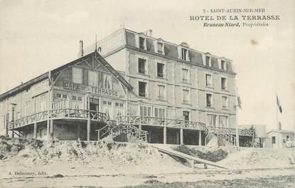 """CPA FRANCE 14 """"Saint Aubin sur Mer, hôtel de la Terrasse"""""""