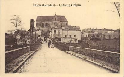 """CPA FRANCE 44 """"Gétigné, le bourg et l'église"""""""