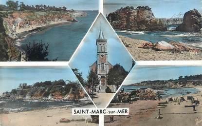 """CPSM FRANCE 44 """"Saint Marc sur Mer, la falaise"""""""