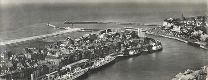 """CPSM PANORAMIQUE FRANCE 76 """"Dieppe, le port et la gare Maritime"""""""