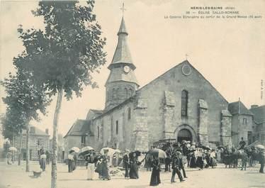 """CPA PANORAMIQUE FRANCE 03 """"Neris Les Bains, église Gallo Romaine"""""""