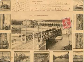 """CPA FRANCE 34 """"Cette, le nouveau pont"""""""