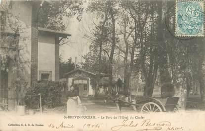 """CPA FRANCE 44 """"Saint Brévin L'Ocean, le parc de l'hôtel du chalet"""""""