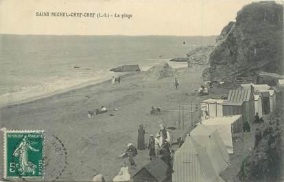 """CPA FRANCE 44 """"Saint Michel Chef Chef, la plage"""""""