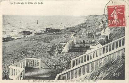 """CPA FRANCE 44 """"Tharon plage, le grand escalier et la plage"""""""