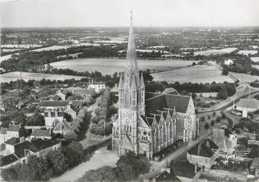 """CPSM FRANCE 44 """"Saint Philibert de Grand Lieu, vue aérienne de l'église"""""""