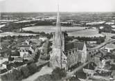 """44 Loire Atlantique CPSM FRANCE 44 """"Saint Philibert de Grand Lieu, vue aérienne de l'église"""""""
