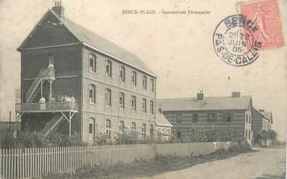 """CPA FRANCE 62 """"Berck Plage, sanatorium Parmentier"""""""