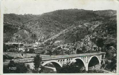 """/ CPSM FRANCE 43 """"Le Chambon de Vorey, pont sur la Loire, hôtel du parc"""""""