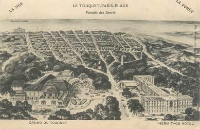 """CPA FRANCE 62 """"Le Touquet Paris Plage, casino, hermitage hotel"""""""