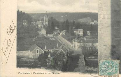 "CPA FRANCE 60 ""Pierrefonds, panorama du château"""