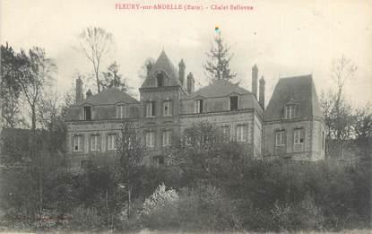"""CPA FRANCE 27 """"Fleury sur Andelle, chalet Bellevue"""""""
