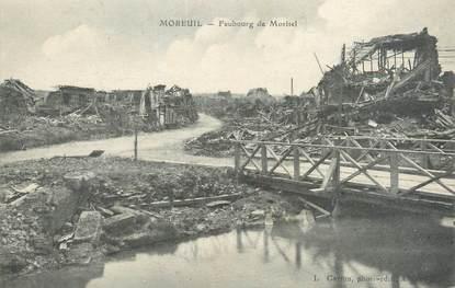 """CPA FRANCE 80 """"Moreuil, faubourg de Morisel"""""""