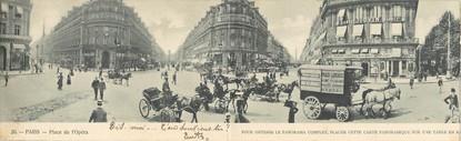 """CPA PANORAMIQUE FRANCE 75002 """"Paris, place de l'Opéra"""""""