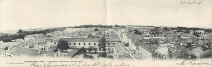 """CPA PANORAMIQUE FRANCE 17 """"Rochefort sur Mer, vue générale, cours du Lycée"""""""