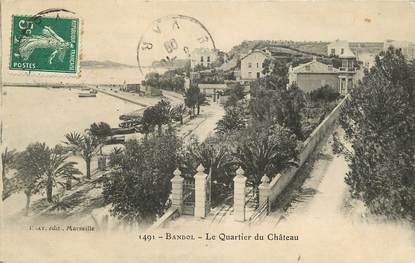 """CPA FRANCE 83 """"Bandol, le Quartier du Château"""""""