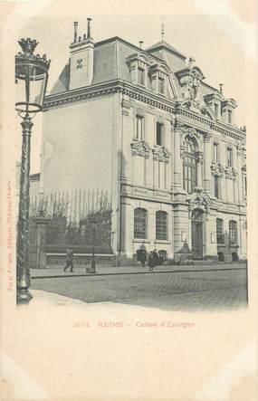 """CPA FRANCE 51 """"Reims, caisse d'Epargne"""" / CE / BANQUE"""