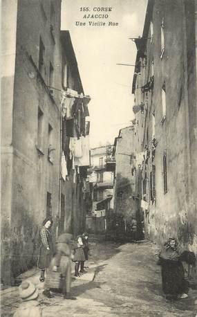 "CPA FRANCE 20 ""Corse, Ajaccio, une vieille rue"""